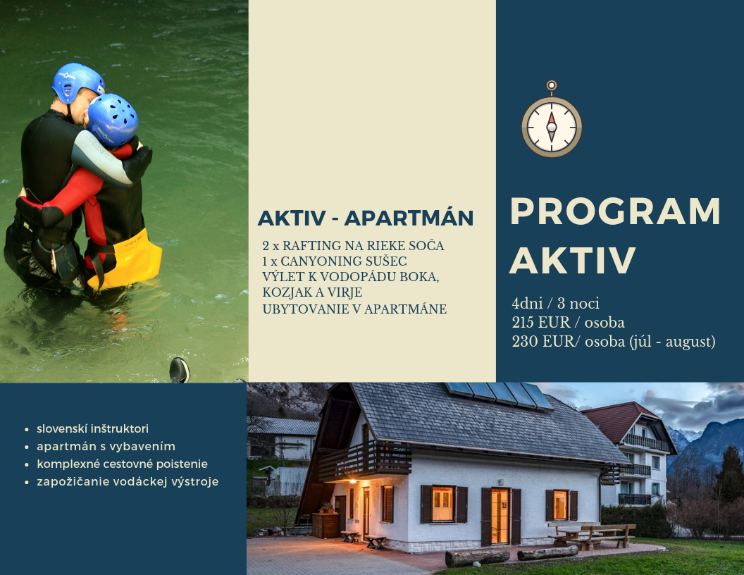 Zájazd do Slovinska Program AKTIV Apartman
