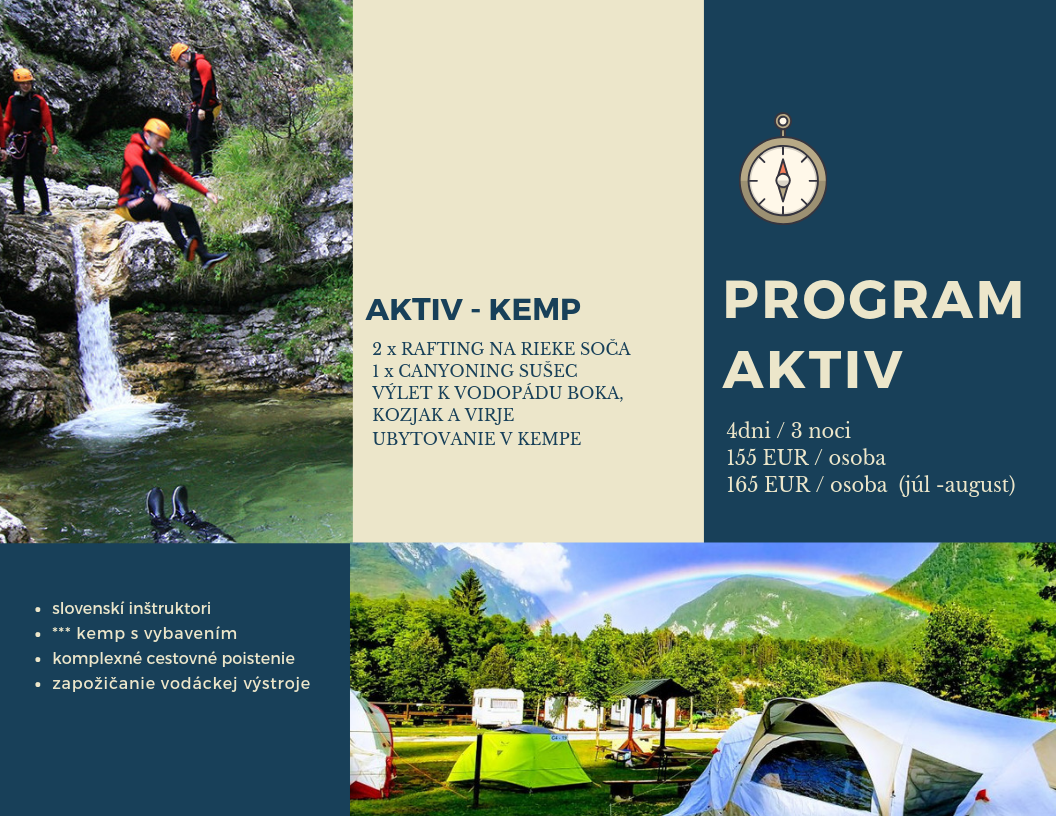 Zájazd do Slovinska Program AKTIV Kemp